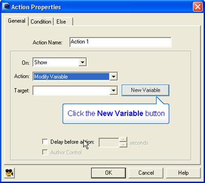Action Properties Dialog Box