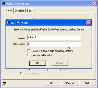 Add Variable Dialog Box