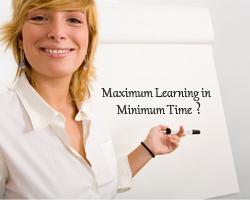 Maximum Learning In Minimum Time