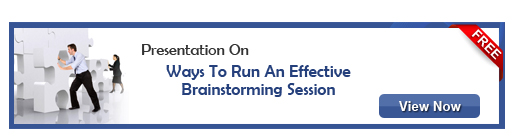 View presentation on Ways To Run An Effective Brainstorming Session