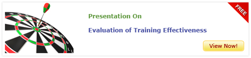View Presentation On Evaluation of Training Effectiveness