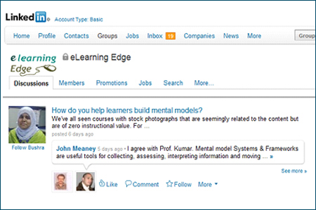 eLearning edge group in Linkedin