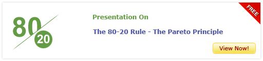 View Presentation On The 80-20 Rule – The Pareto Principle