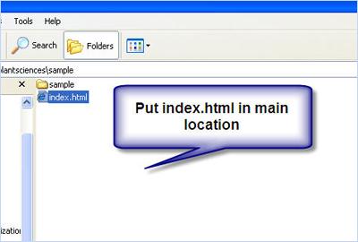 Put index.html in main location