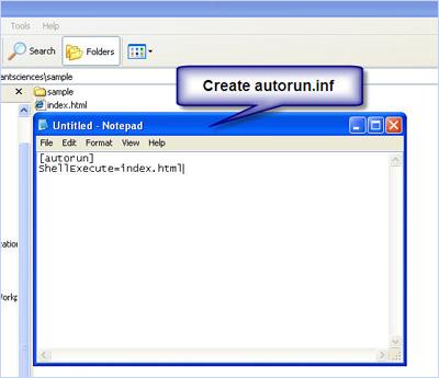 Create autorun.inf