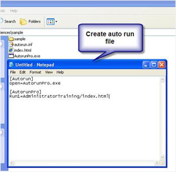 autorun.inf file creation