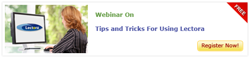 View Webinar On Tips and Tricks for Using Lectora