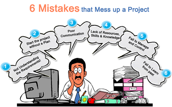 6 Mistakes that Mess up a Project