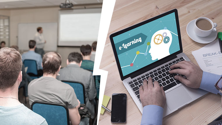 Classroom Training VS. Online Training [Infographic]