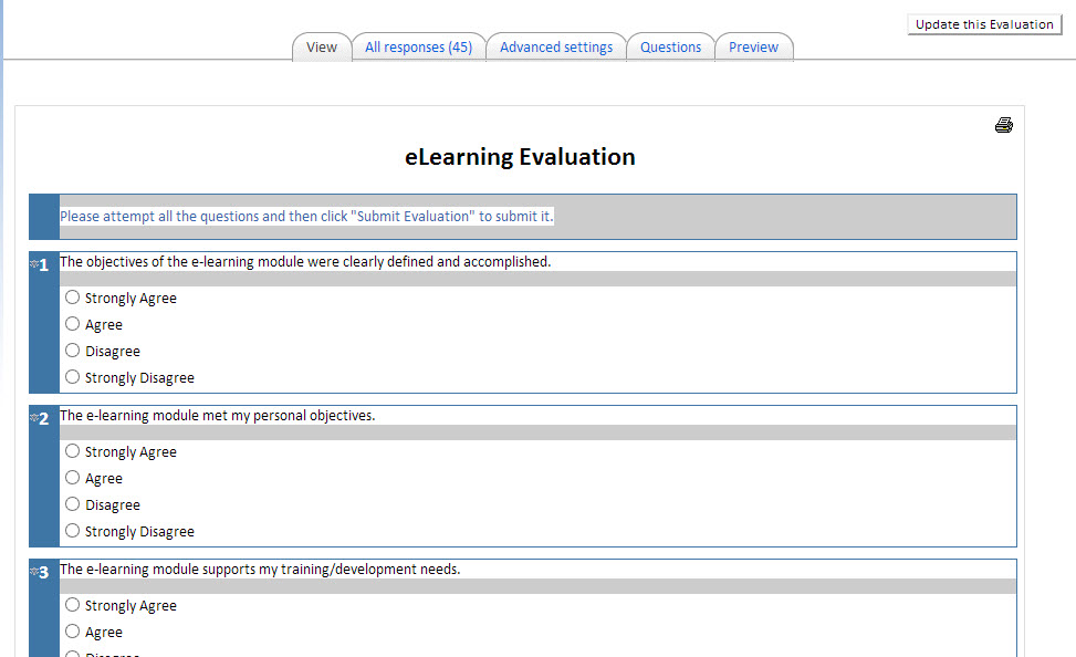 Eevaluation and Certificate Templates