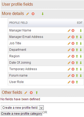 Modify User Profile Fields