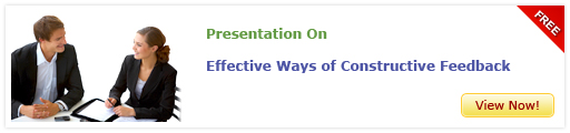 View Presentation on Constructive Feedback for Performance Improvement of Sales Force