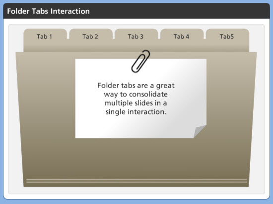 Folder Tab Interaction in Articulate Storyline