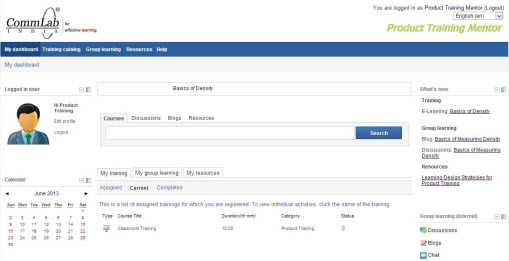 LMS in English Interface