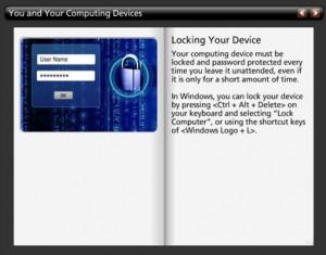 Screenshot from a Security Awareness Course