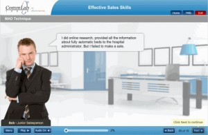 Screenshot Showing Effective Sales Skills