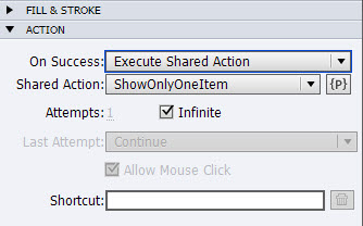 Assign a Shared Action to an Object