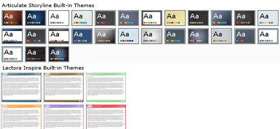 Built-in Themes in Storyline and Lectora Inspire