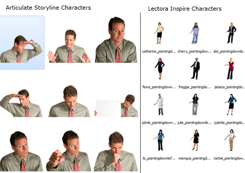 Characters Pack in Storyline and Lectora Inspire