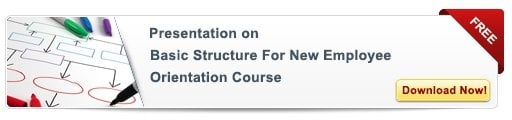 Basic Structure for New Employee Orientation Course – Free Presentation
