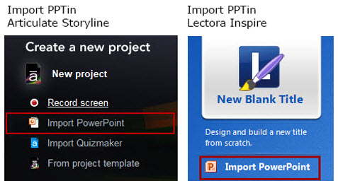 Importing PowerPoint into Storyline and Lectora Inspire