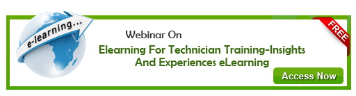 View Webinar On Designing  E-learning for Technician Training-Insights and Experiences eLearning