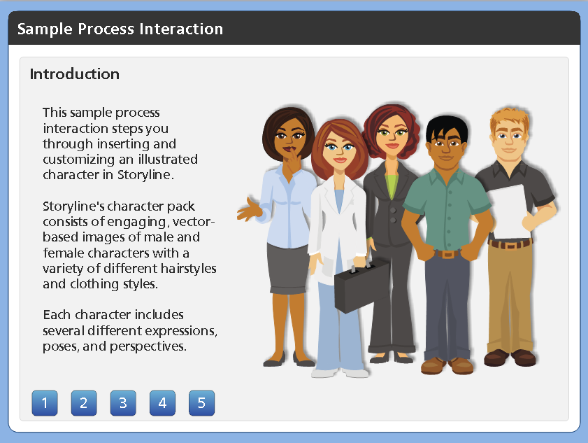 Numbers Process Developed in Articulate Storyline