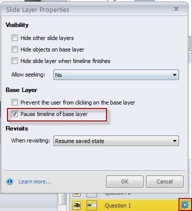 Pause a Media file Using Pause Timeline of Base Layer