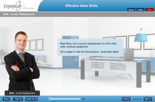 Sales Training Using Scenarios