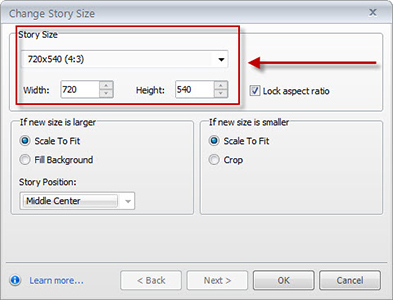 Set Story Size in Articulate Storyline
