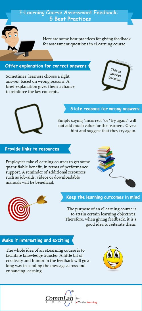 Feedback on eLearning Assessments: 5 Best Practices – An Infographic
