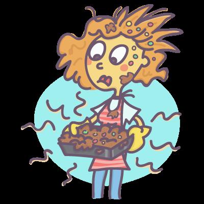 Girl dumping cake gone wrong