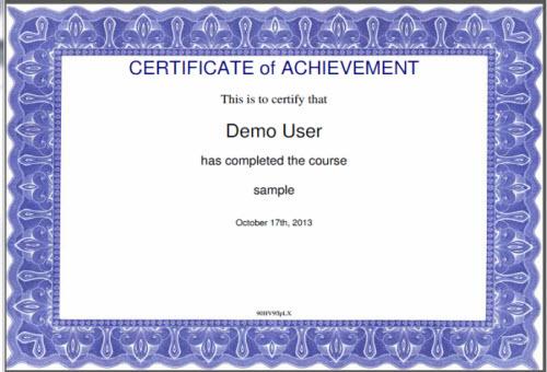 Print Certificates