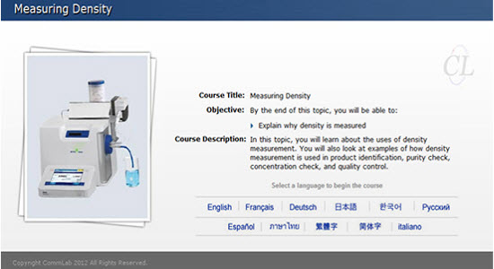 Select a language to begin the course