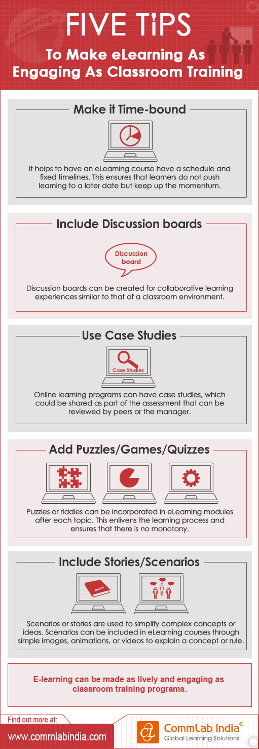 5 Tips to Make E-learning As Engaging As Classroom Training[Infographic]