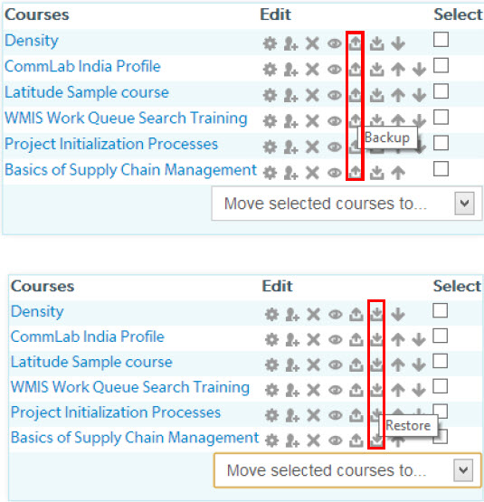 Copying courses and specific course components