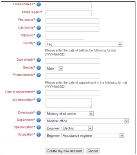 Customizing the self-registration fields to define user groups