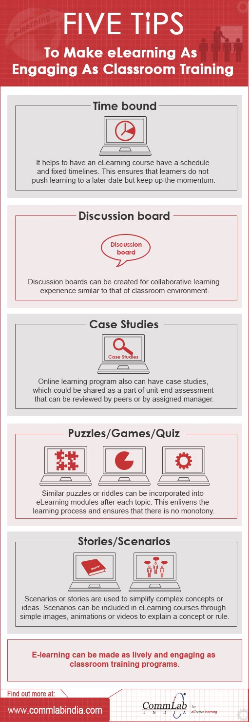 5 Tips to Make E-learning As Engaging As Classroom Training - An Infographic