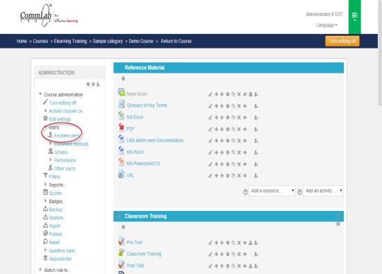 Administrator user's block screen