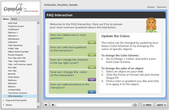 FAQ Interactions