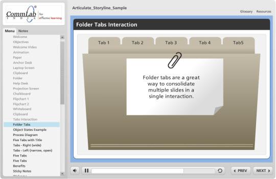 Folder Tabs Interaction