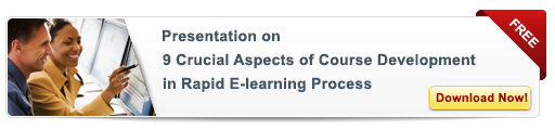 View Presentation on 9 Crucial Aspects of Course Development in Rapid eLearning Process