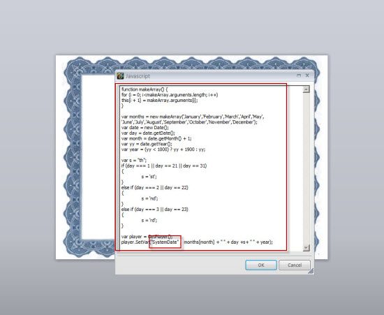 Showing a window with Java Script