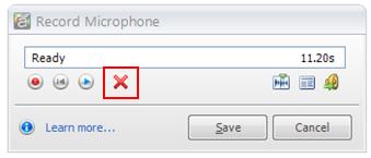 Remove or delete the audio