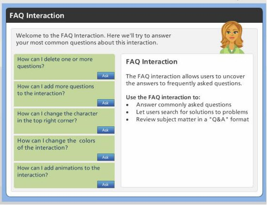 FAQ interaction