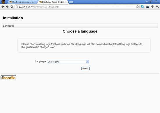 First Choose a language