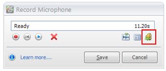Import audio file