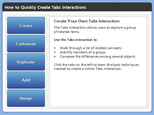 Tabs Interaction