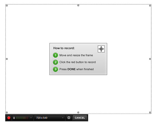 Click on the Record Screen Icon