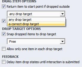 Correct Drop Target